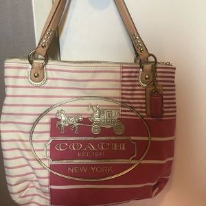 Coach Poppy Patchwork Glam Tote